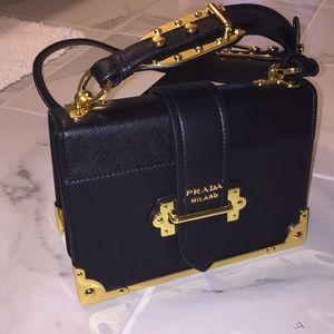 Handbags - Black Leather Accordion Bag